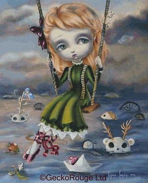 Over Troubled Water By Simona Candini Cross Stitch Kit (SCOTWT)
