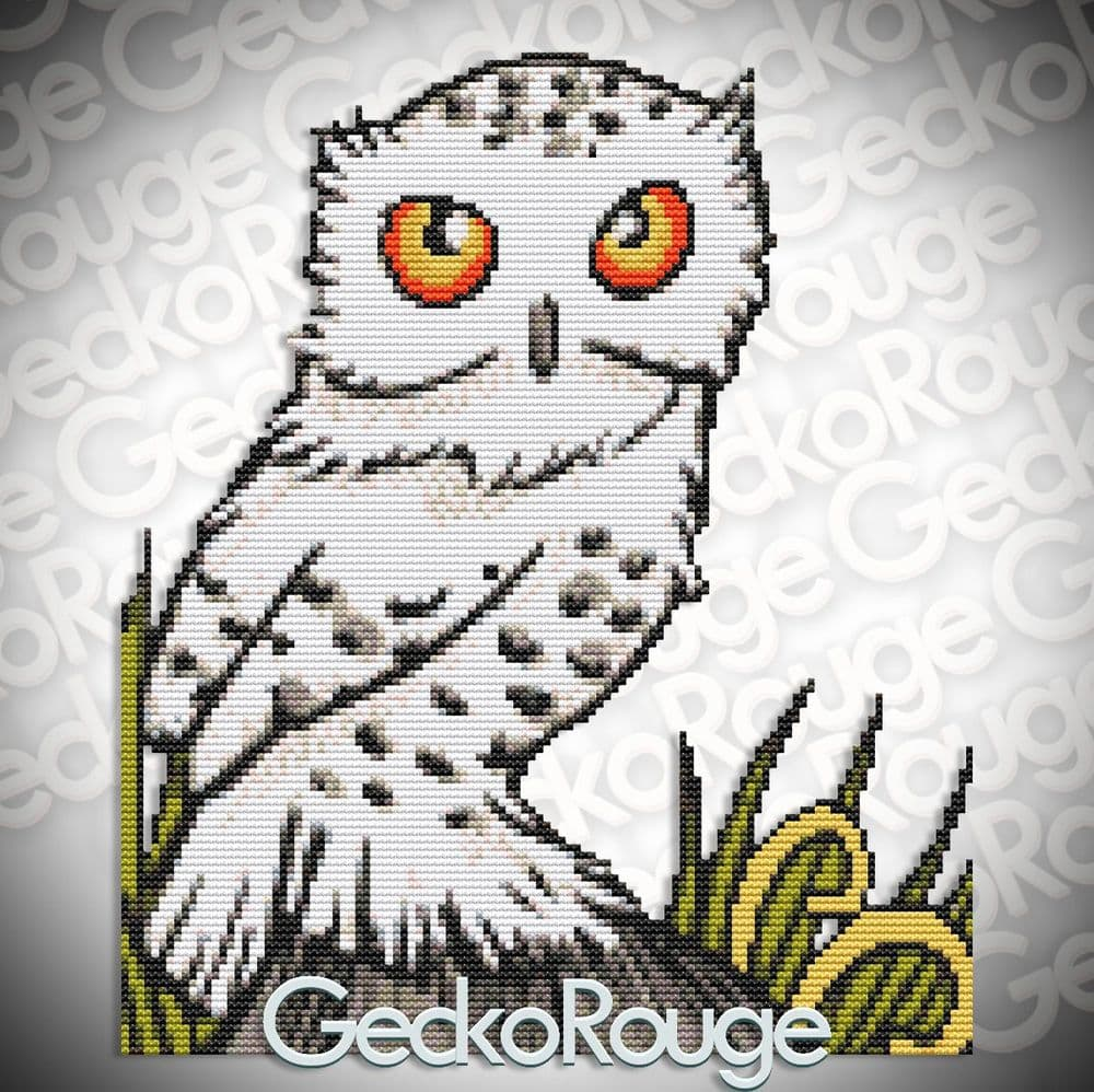 Owl Inchie 'Snowy' by Anita Inverarity Modern  Cross Stitch Art Kit