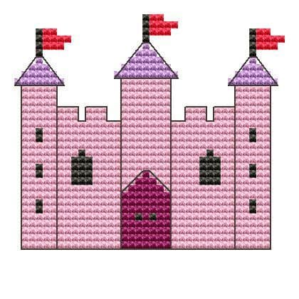 Palace Counted Cross Stitch Kit (Ready to Ship) 14ct