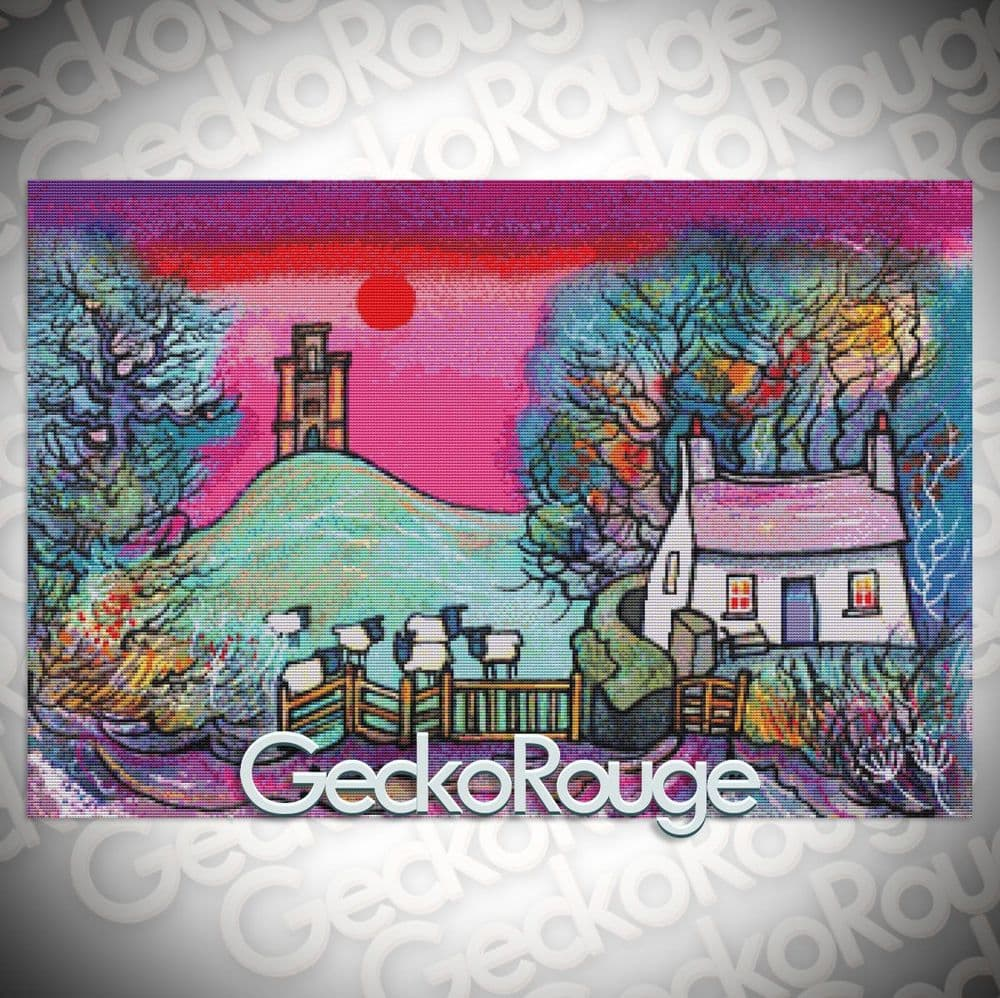 Paxtons Tower Cottage  Cross Stitch Kit By Dorian Spencer Davies Art (DDPTTWCT)