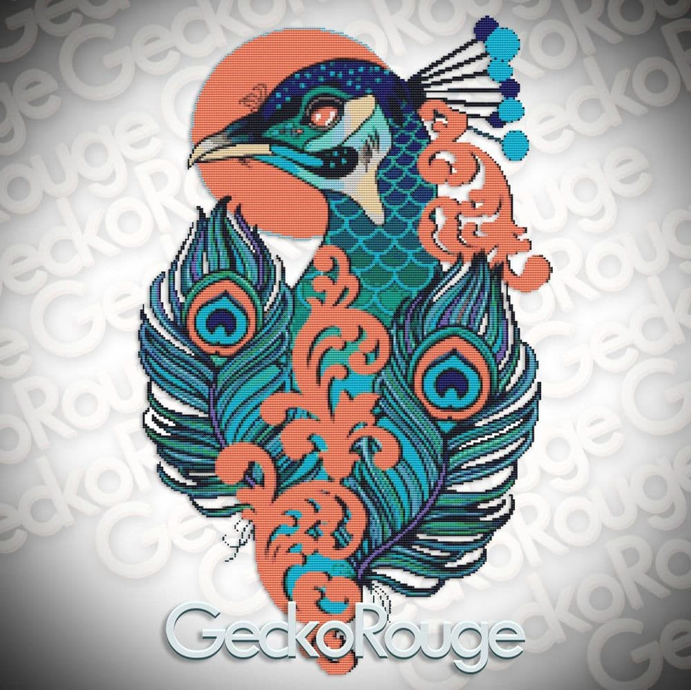 Peacock Cross Stitch Kit By Charlie Darling ( CDPEACK )
