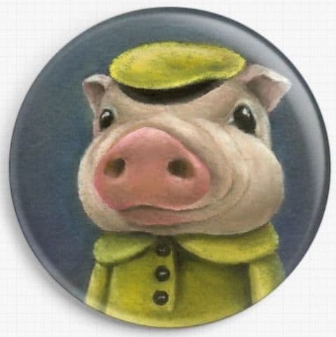 Peter Pig By Tanya Bond Licensed Art Needle Minder