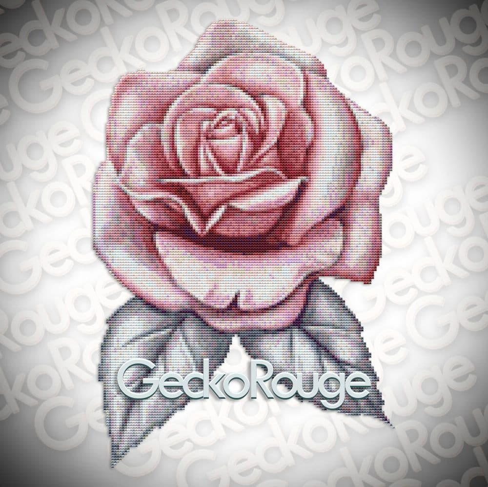Pink Rose By Emily Luella Art Modern Cross Stitch Art Kit