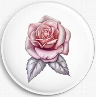 Pink Rose By Emily Luella Licensed Art Needle Minder