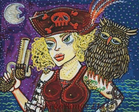 Pirate Quest For The Golden Owl By Laura Barbosa Cross Stitch Kit