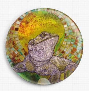 Pogona By Lynnette Shelley Licensed Art Needle Minder