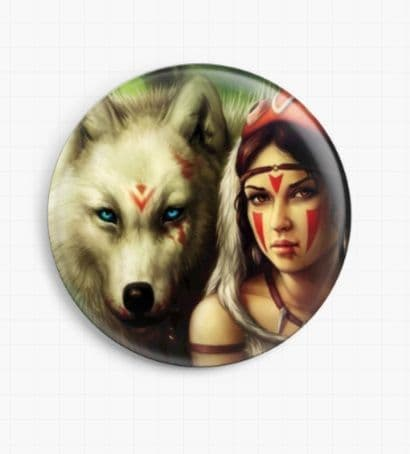 Princess Mononoke by Jonas Joedicke Licensed Art Needle Minder