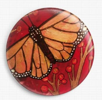 Red Monarch By Lynnette Shelley Licensed Art Needle Minder