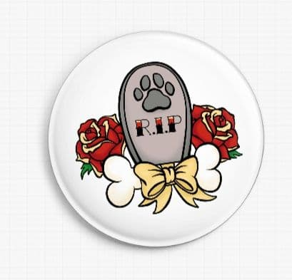 RIP Boy By Miss Cherry Martini Licensed Art Needle Minder