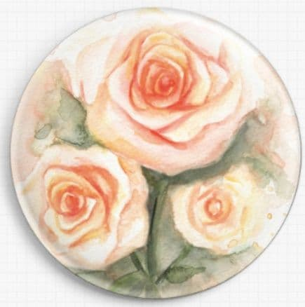 Roses By Emily Luella Licensed Art Needle Minder