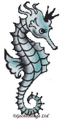 Seahorse By Fluff Cross Stitch Kit