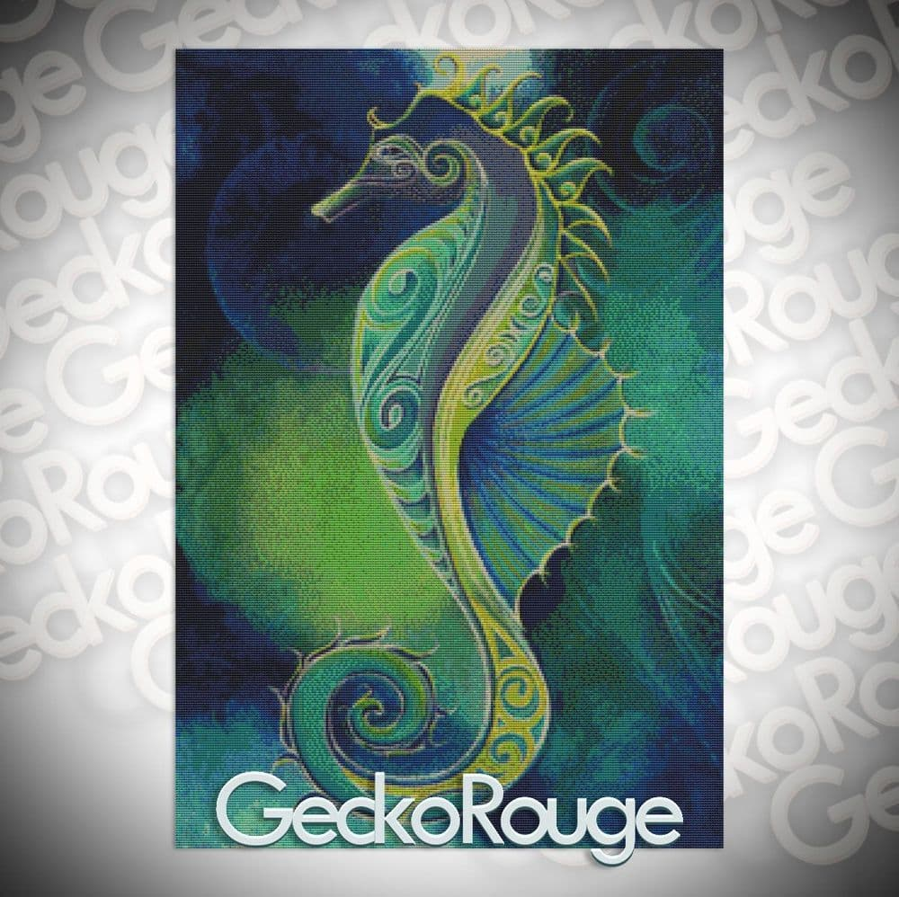 Seahorse By Reina Cottier Cross Stitch Kit (RCTSEA)