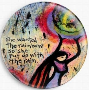 She Wanted The Rainbow So She Put Up With The Rain By Lindy Gaskill Licensed Art Needle Minder