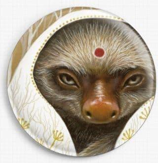 Sloth By Tanya Bond Licensed Art Needle Minder