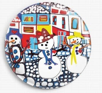 Snowy Day By Dora Ficher Licensed Art Needle Minder