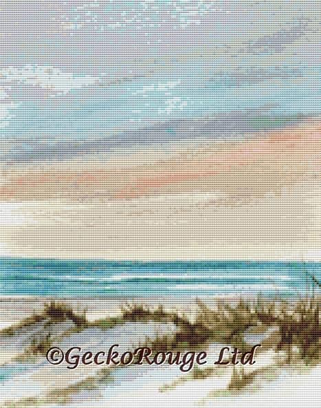 Soothing Sunset By Rosie Brown Cross Stitch Kit (RBSOOTSN)