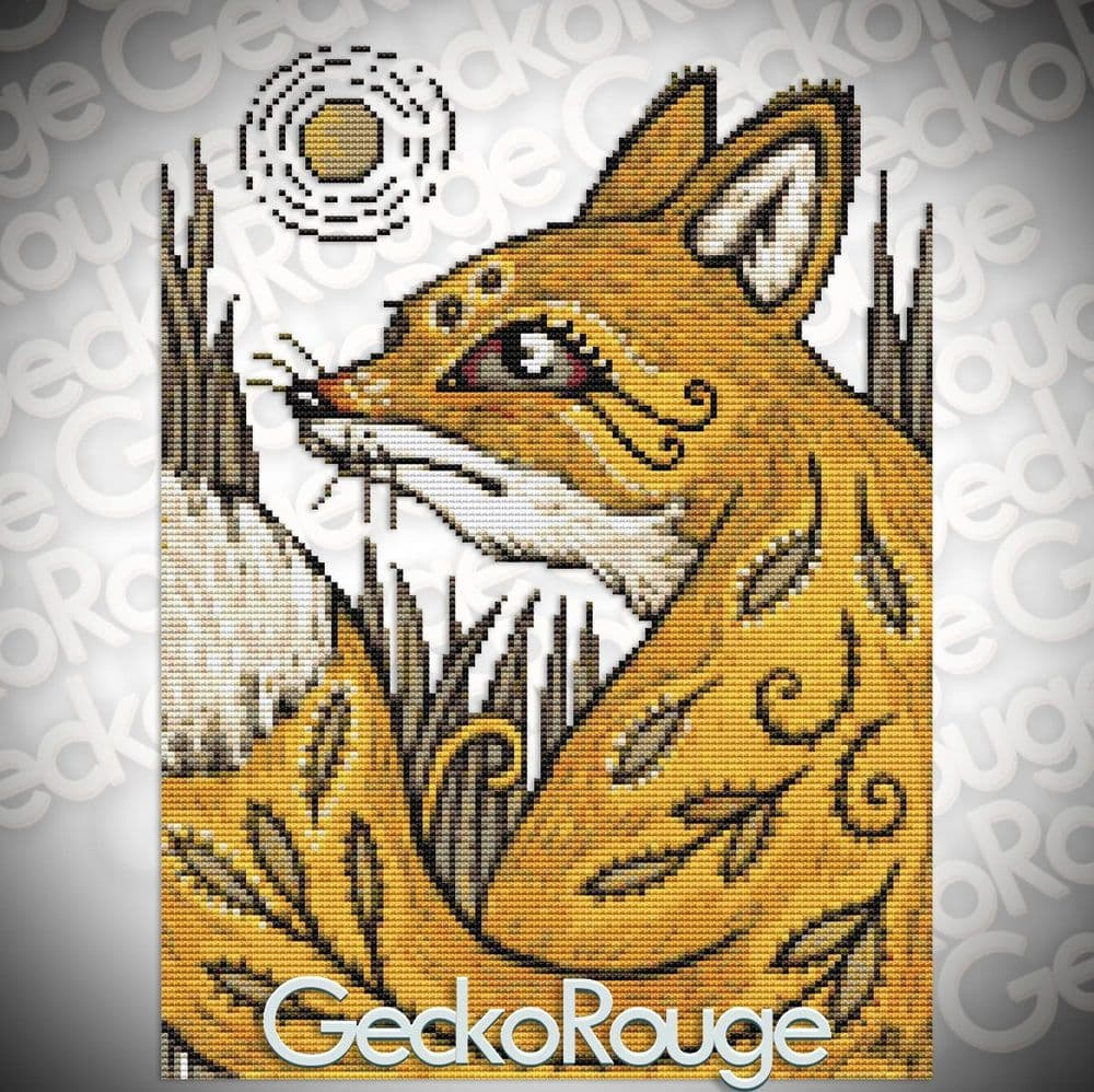 Spirit Fox by Anita Inverarity Modern Cross Stitch Art Kit