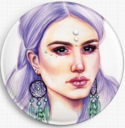 The Dream Catcher By Emily Luella Licensed Art Needle Minder
