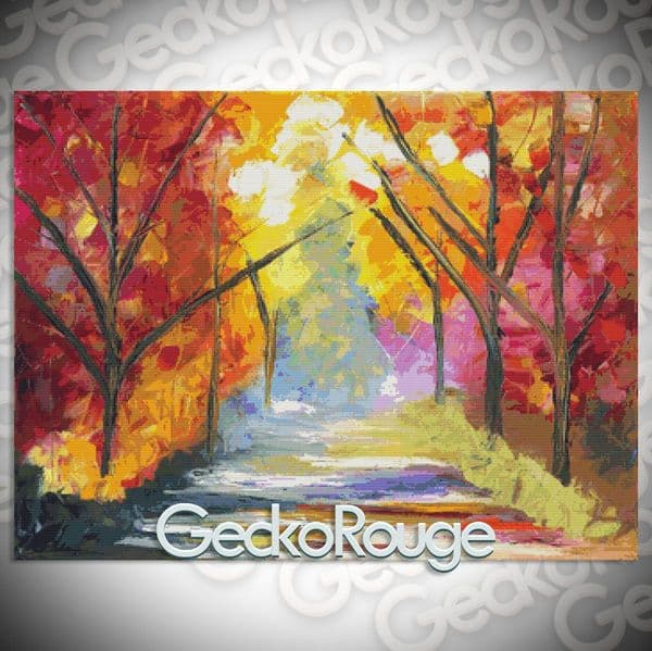 The Road Less Traveled By Jessilyn Park Cross Stitch Kit