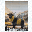 Bumble Sheep Modern Cross Stitch Art Kit by Tanya Bond  [READY TO SHIP]