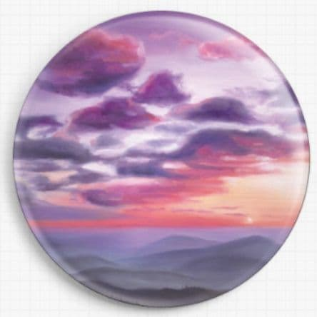 Violet Sunset By Emily Luella Licensed Art Needle Minder