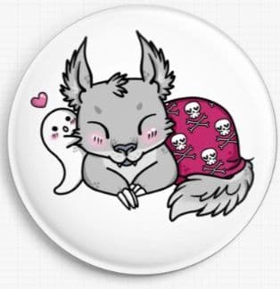 Werewolf By Miss Cherry Martini Licensed Art Needle Minder Girl