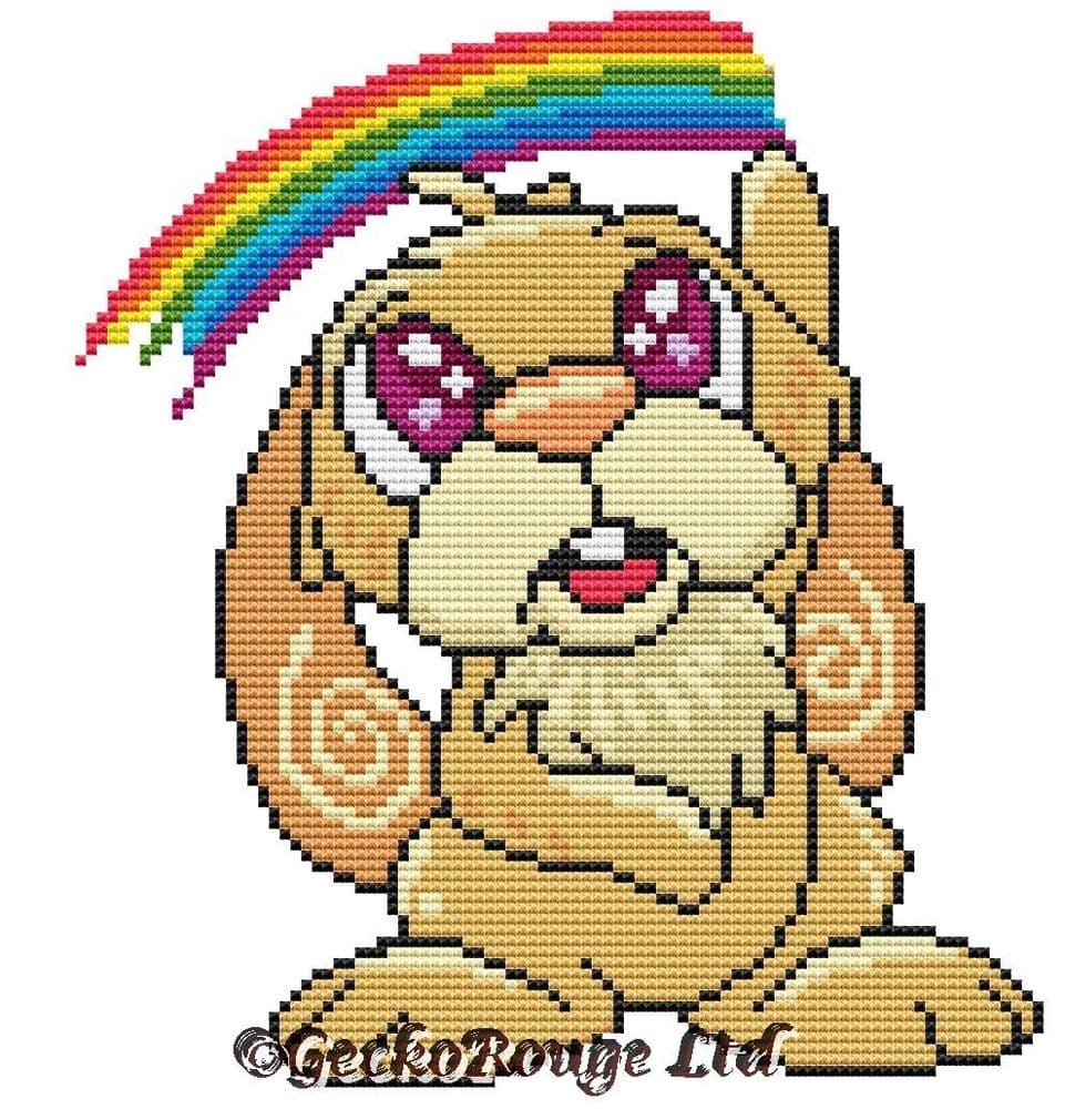 Wilf Bunny Rabbit  by Swirlies World Modern Cross Stitch Art Kit