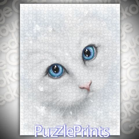 Winter Cat Jigsaw Puzzle by SheWhiteDragon (Linda Jones)