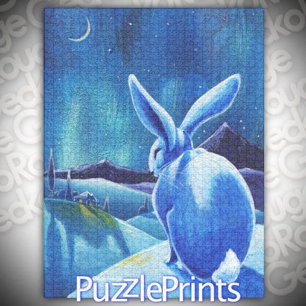 Winter Hare Jigsaw Puzzle by Lesley D McKenzie