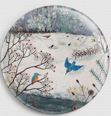 Winter Kingfisher By Jo Grundy Needle Minder
