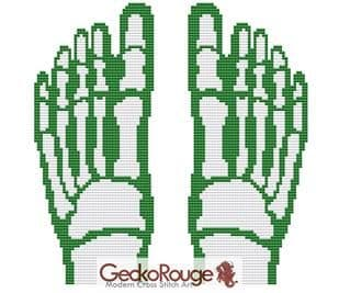 X-Ray Feet Counted Cross Stitch Kit (FSFEET702)