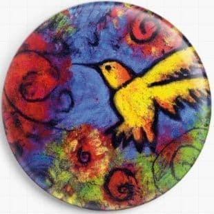 Yellow Hummingbird By Lindy Gaskill Licensed Art Needle Minder