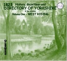 1823 East and North Ridings of Yorkshire History, Gazetteer and Directory - DOWNLOAD [Free Delivery]