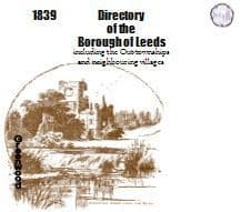 1839 Leeds Borough General and Commercial Directory - CD