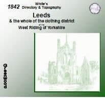 1842 Leeds Borough White's Directory and Topography - CD