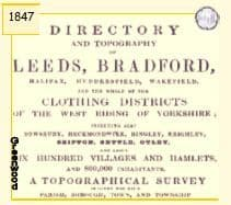 1847 White's Directory, Leeds & West Riding Clothing Districts - CD