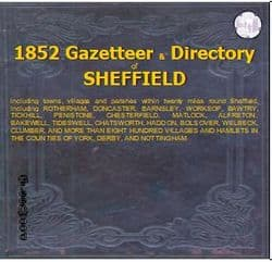 1852 SHEFFIELD. WILLIAM WHITE'S GENERAL DIRECTORY - CD