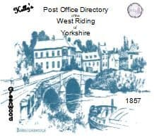 1857 KELLY'S POST OFFICE DIRECTORY of the WEST RIDING of YORKSHIRE - CD