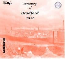 1936 Bradford and Suburbs Kelly's Directory - CD
