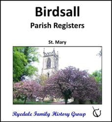 Birdsall - Parish Registers (Baptisms, Marriages & Burials) - DOWNLOAD (FREE DELIVERY)