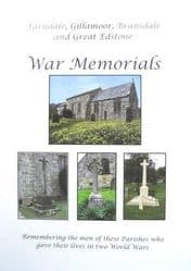 Farndale,Gillamoor, Bransdale and Great Edstone War Memorials - A4 Book