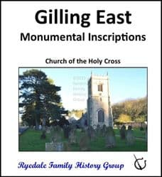Gilling East - Monumental Inscriptions - DOWNLOAD (FREE DELIVERY)