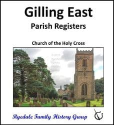 Gilling East - Parish Registers (Baptisms, Marriages & Burials) - CD