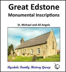 Great Edstone - Monumental Inscriptions - DOWNLOAD (FREE DELIVERY)