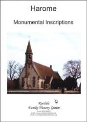 Harome - Monumental Inscriptions - A5 book