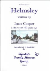 Helmsley - Reminiscences of 100 years ago - A5 Book
