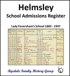 Helmsley - School Admissions Register - DOWNLOAD (FREE DELIVERY)