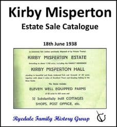 Kirby Misperton - Estate Sale Catalogue 1938 - DOWNLOAD (FREE DELIVERY)