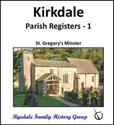 Kirkdale - Parish Registers 1 (Baptisms, Marriages & Burials) - DOWNLOAD (FREE DELIVERY)