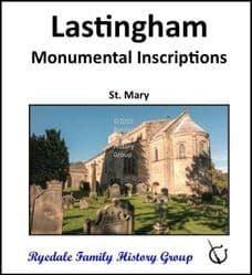 Lastingham - Monumental Inscriptions - DOWNLOAD (FREE DELIVERY)